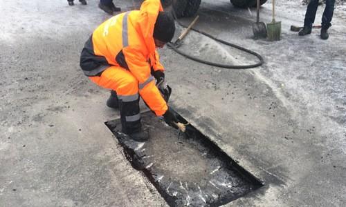 Ямочный ремонт в Железнодорожном